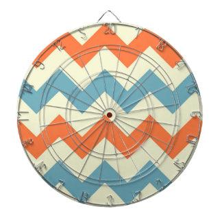 El zigzag azul anaranjado del galón raya el modelo tablero dardos