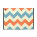 El zigzag azul anaranjado del galón raya el modelo iPad mini cárcasa