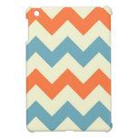 El zigzag azul anaranjado del galón raya el modelo iPad mini protectores