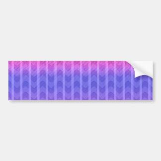 El zigzag azul rosado femenino elegante de moda ra etiqueta de parachoque