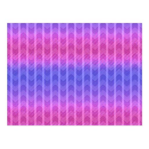 El zigzag azul rosado femenino elegante de moda ra tarjeta postal