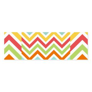 El zigzag colorido de Chevron raya el modelo Plantillas De Tarjetas De Visita