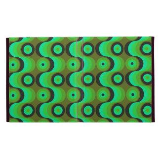 El zigzag curvado alinea los años 70 verdes de los
