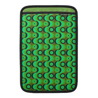 El zigzag curvado alinea los años 70 verdes de los fundas para macbook air
