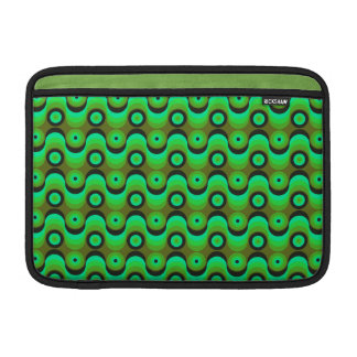 El zigzag curvado alinea los años 70 verdes de los funda para macbook air