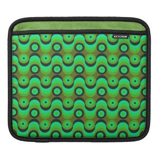 El zigzag curvado alinea los años 70 verdes de los mangas de iPad