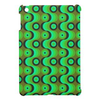 El zigzag curvado alinea los años 70 verdes de los iPad mini protectores