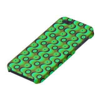 El zigzag curvado alinea los años 70 verdes de los iPhone 5 carcasas