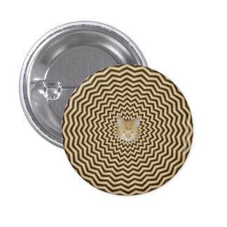 El zigzag de la sepia ondula el botón de Pinback + Pin Redondo De 1 Pulgada