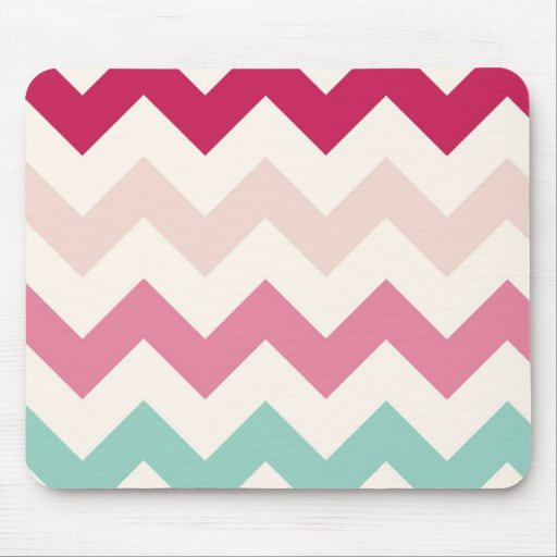 El zigzag en colores pastel del galón raya moda mousepad