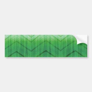 El zigzag femenino verde de moda raya el modelo etiqueta de parachoque