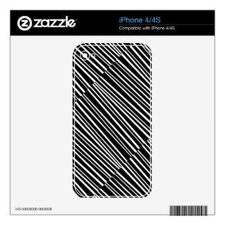 El zigzag negro raya los regalos personalizados iPhone 4S skin