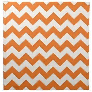 El zigzag poner crema anaranjado de Chevron de la  Servilleta De Papel