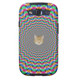 El zigzag psicodélico suena el gato galaxy SIII funda