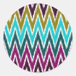 El zigzag púrpura de Ikat Chevron del trullo raya
