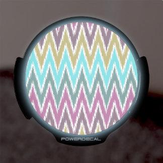 El zigzag púrpura de Ikat Chevron del trullo raya  Sticker LED Para Ventana