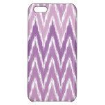 El zigzag púrpura de Ombre Ikat Chevron raya el
