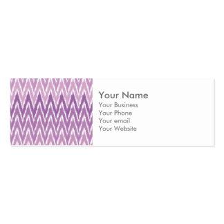 El zigzag púrpura de Ombre Ikat Chevron raya el Tarjetas De Visita Mini