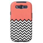 El zigzag rosado coralino Samsung de Chevron del m Galaxy S3 Protector