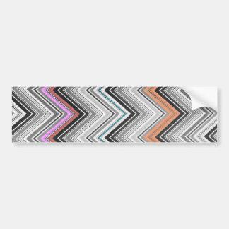 El zigzag rosado negro de moda de Chevron raya el  Pegatina Para Auto
