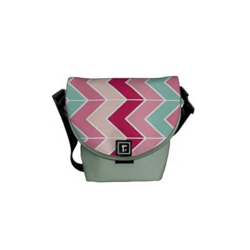 El zigzag tribal del galón raya moda del modelo de bolsas de mensajeria