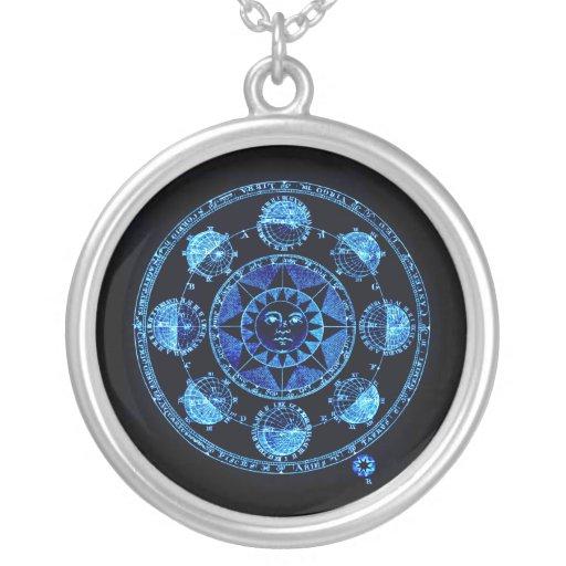 El zodiaco azul claro alterado Sun eclipsa el coll