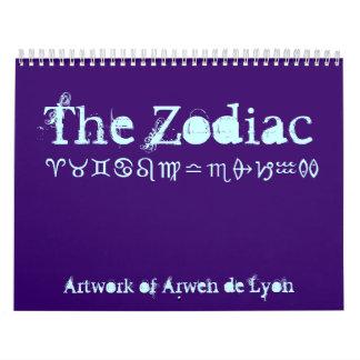 El zodiaco calendario de pared