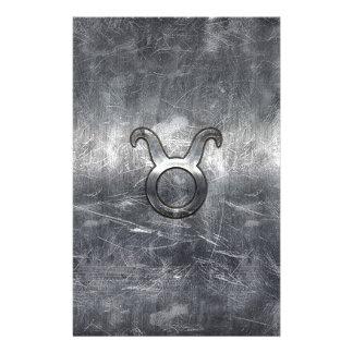 El zodiaco de Tauraus firma adentro estilo apenado Folleto 14 X 21,6 Cm