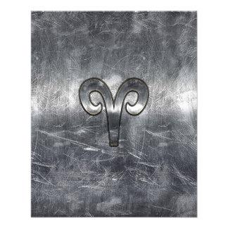 El zodiaco del aries firma adentro estilo apenado folleto 11,4 x 14,2 cm