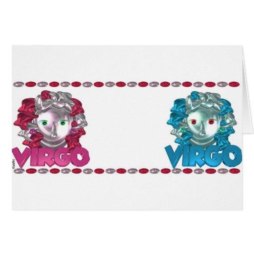 El zodiaco del virgo del virgo de ValxArt firma Tarjeta De Felicitación