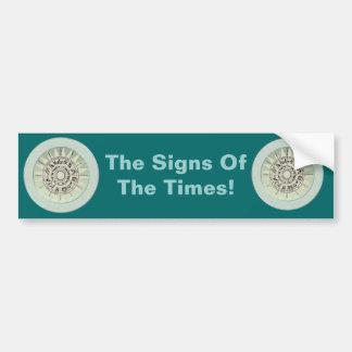El zodiaco firma idea del regalo etiqueta de parachoque