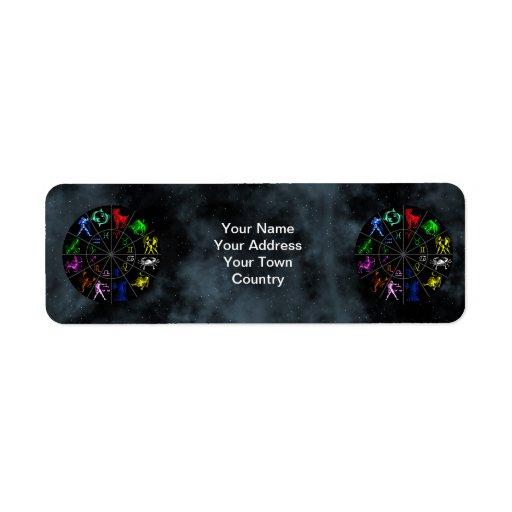 El zodiaco firma junto etiquetas de remite