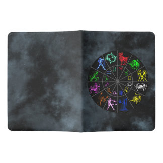 El zodiaco firma junto funda para libreta y libreta extra grande moleskin