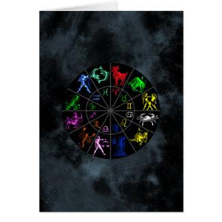 El zodiaco firma junto tarjeta de felicitación
