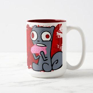 ¡El zombi atesora la taza! Taza De Dos Tonos