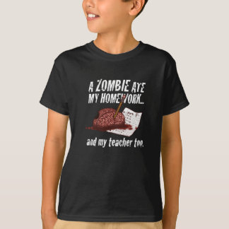 el zombi comió mi camiseta de la preparación… camisas
