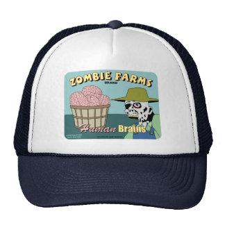 El zombi cultiva la etiqueta del cajón de la fruta gorras