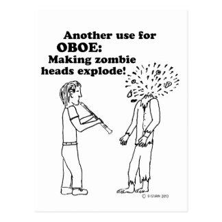 El zombi de Oboe estalla Tarjeta Postal