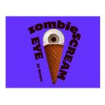"""El zombi divertido come el """"ojo grita """" postales"""