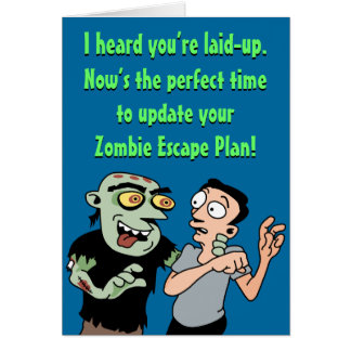 El zombi divertido consigue pronto la tarjeta bien