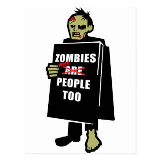 El zombi divertido, zombi era gente también postales