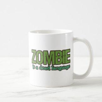 El zombi es una lengua muerta taza básica blanca