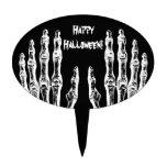 El zombi fantasmagórico de Halloween da blanco y n Decoración De Tarta