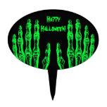 El zombi fantasmagórico de Halloween da verde del  Figura De Tarta
