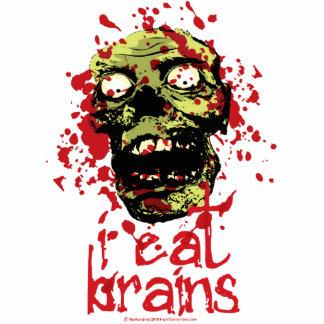 El zombi I come los cerebros 2 Fotoescultura Vertical