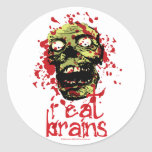 El zombi I come los cerebros 2 Pegatina Redonda