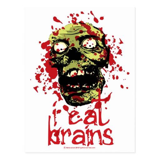 El zombi I come los cerebros 2 Tarjetas Postales