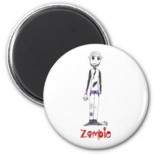 El zombi imán redondo 5 cm