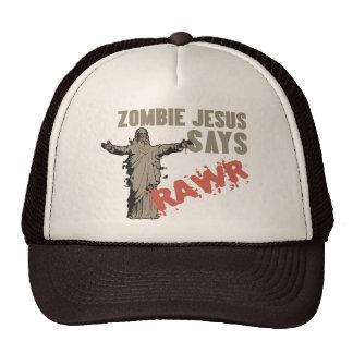El zombi Jesús dice RAWR Gorro