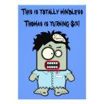El zombi personalizado embroma a la fiesta de comunicado personalizado